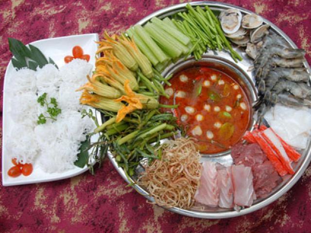 Nguyên liệu để làm món lẩu thái hải sản