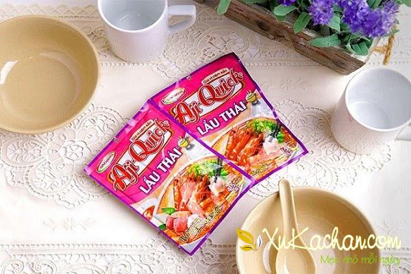 Gói gia vị nấu lẩu Thái - cách nấu lẩu thái bằng gói gia vị aji quick
