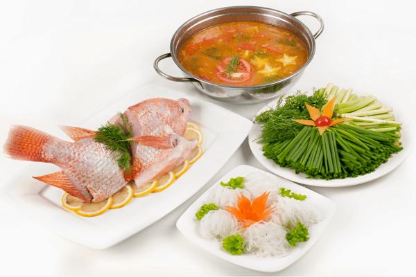Lẩu cá diêu hồng chua cay - cách làm lẩu cá diêu hồng