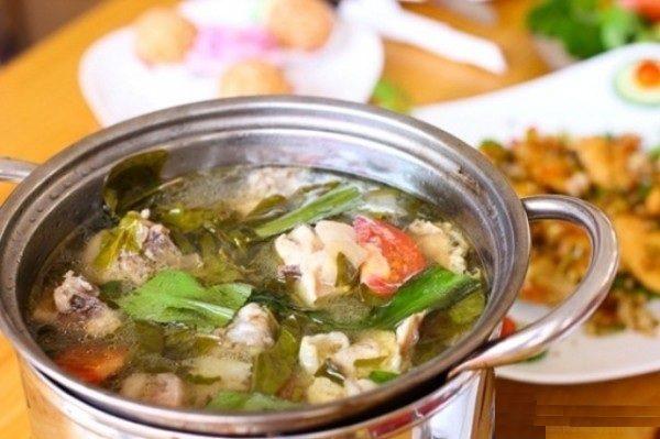 Nấu lẩu gà lá giang - cach nau lau ga la giang