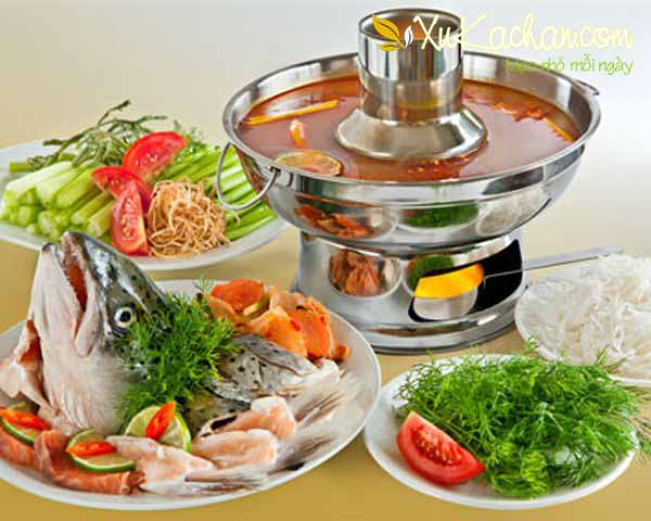 Lẩu cá hồi thơm ngon bổ dưỡng