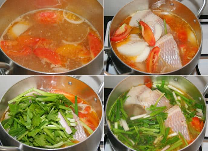 Nấu lẩu cá diêu hồng - cách nấu lẩu cá diêu hồng