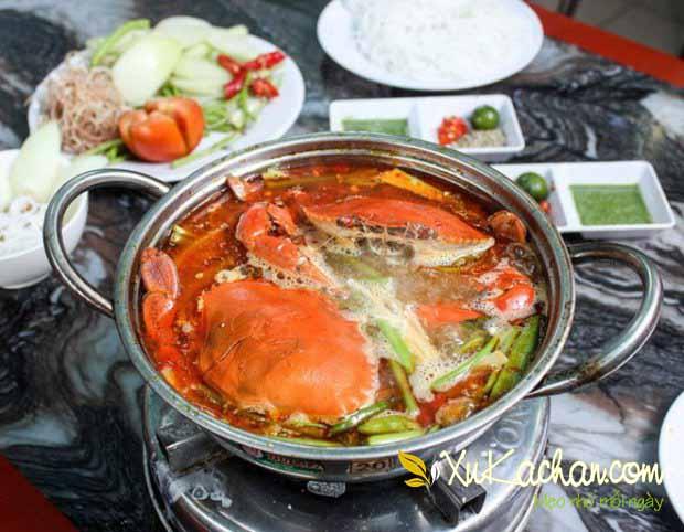 Nấu lẩu cua biển - cach nau lau cua bien