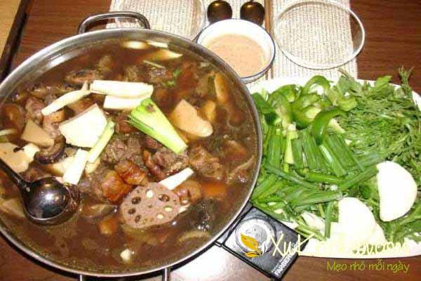 Nấu lẩu dê - cach nau lau de