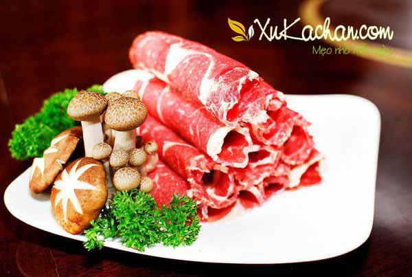 Một số nguyên liệu ăn lẩu bò - cách nấu lẩu bò ngon nhất