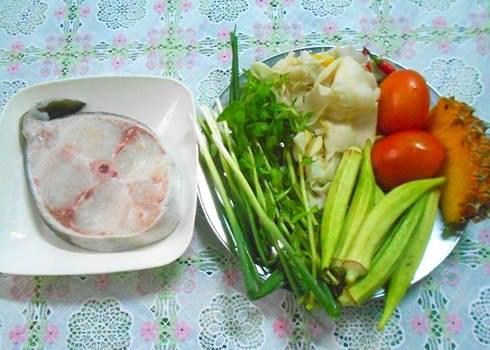 Các nguyên liệu nấu lẩu cá bớp măng chua cần chuẩn bị
