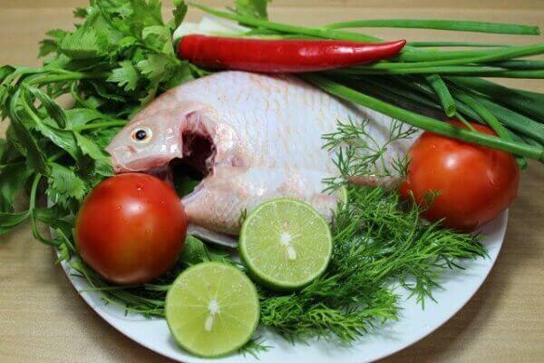 Một số nguyên liệu nấu lẩu cá diêu hồng cần chuẩn bị - lẩu cá diêu hồng chua cay