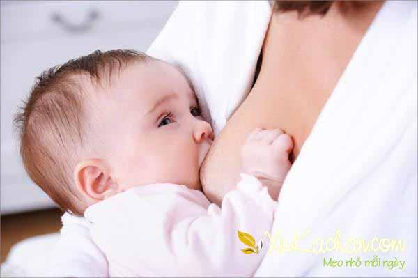 Những điều cần chú ý khi cho trẻ sơ sinh trong vòng một tháng tuổi bú