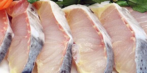 Phần thân cá tầm sau khi sơ chế xong - cách làm lẩu cá tầm