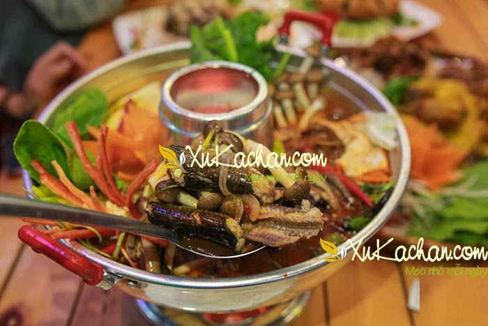 Cách nấu lẩu lươn chua cay ngay tại nhà - cách nấu lẩu lươn chua cay