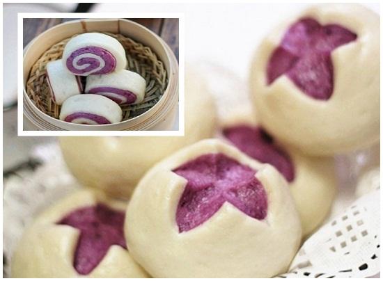Cách làm bánh bao chay 2 màu đơn giản nhất - cach lam banh bao chay
