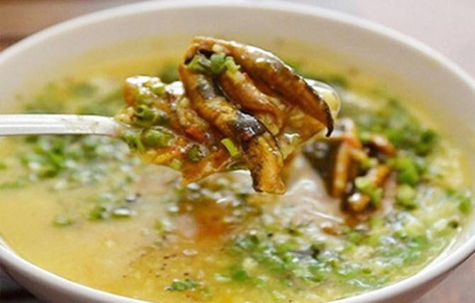 Thành phẩm món cháo lươn có được - cách nấu cháo lươn không bị tanh