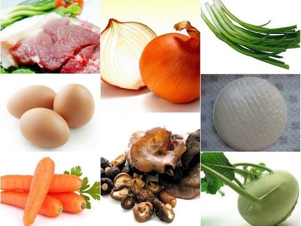 Một số nguyên liệu làm nem rán - cách làm nem rán hà nội