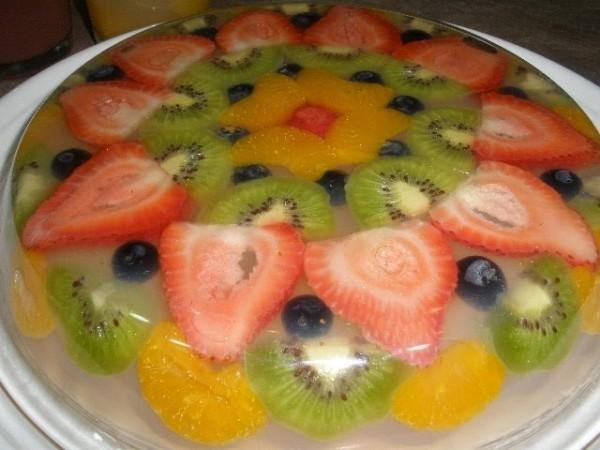 Thành phẩm món thạch rau câu hoa quả có được - cach lam thach rau cau