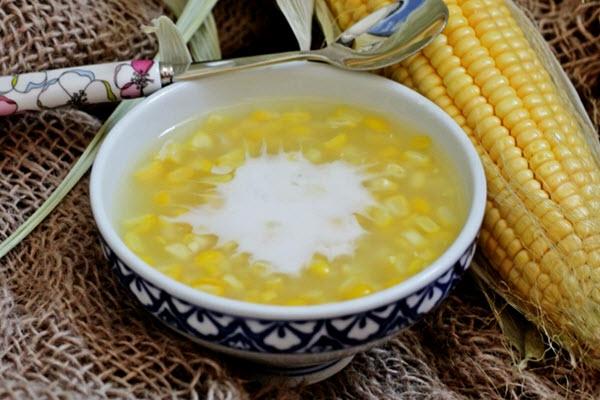 Cách nấu chè bắp ngon với nước cốt dừa - cach nau che bap