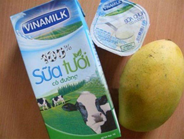 Một số nguyên liệu làm sinh tố xoài sữa chua ngon - cách làm sinh tố xoài sữa chua