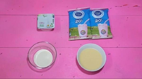 Một số nguyên liệu làm sữa chua dẻo mịn - cách làm sữa chua dẻo mịn