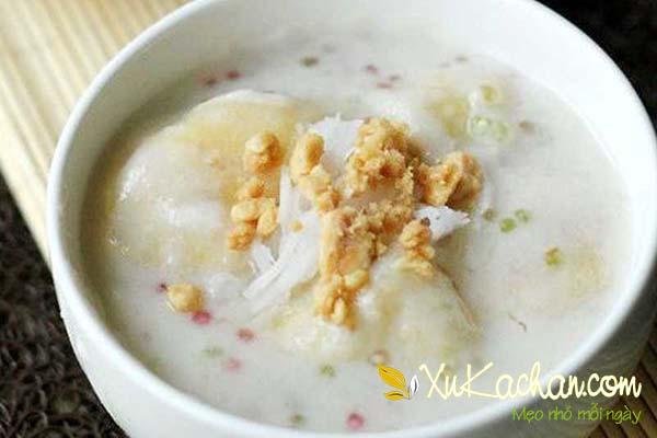 Chè chuối nước cốt dừa và bột báng tự làm ngay tại nhà - cách làm chè chuối