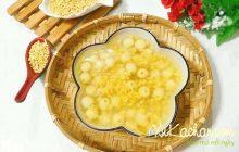 Cách nấu chè hạt sen tươi với đậu xanh và bột sắn dây