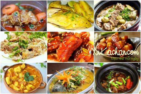 Tổng hợp các món ăn chính ngon và phổ biến trong mỗi bữa cơm gia đình