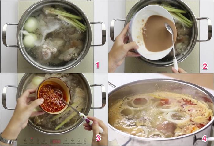 Nấu nước dùng bún bò Huế ngon và chuẩn vị - dạy nấu bún bò huế ngon
