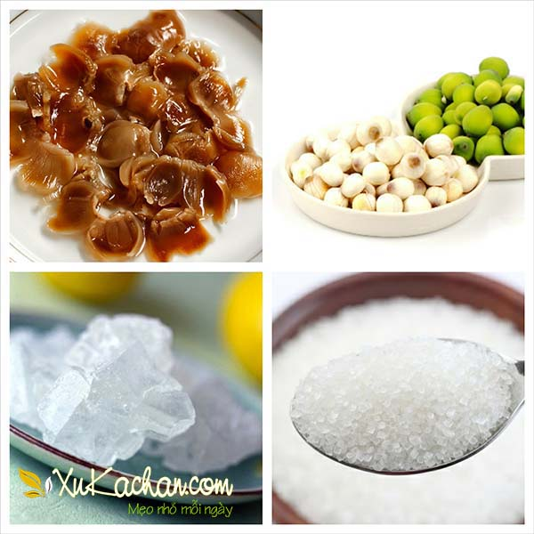 Một số nguyên liệu nấu chè hạt sen nhãn nhục cần chuẩn bị - cách nấu chè hạt sen nhãn nhục