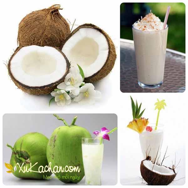 Cách làm sinh tố dừa sáp ngon và chuẩn nhất - cach lam sinh to dua
