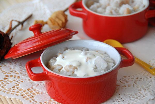 Thành phẩm món chè đậu trắng khoai môn có được - cách nấu chè đậu trắng khoai môn