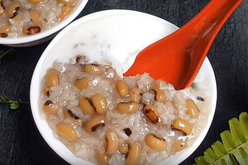 Thành phẩm món chè đậu trắng nước cốt dừa có được