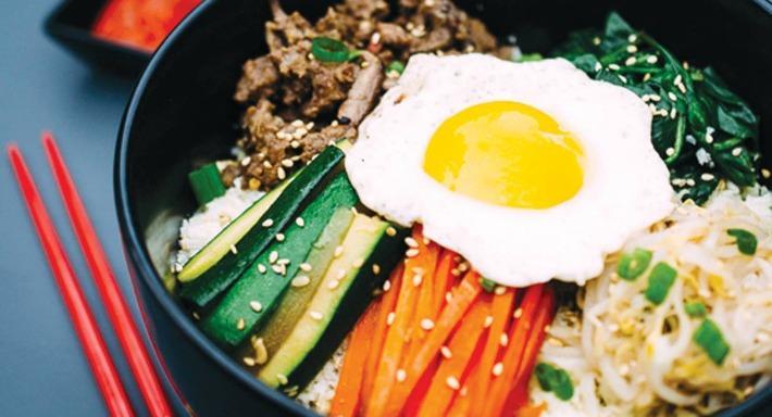 Thành phẩm món cơm trộn Hàn Quốc sau khi có được