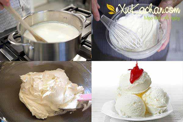 Cách làm kem tươi tại nhà vị vani ngon nhất - cach lam kem tuoi