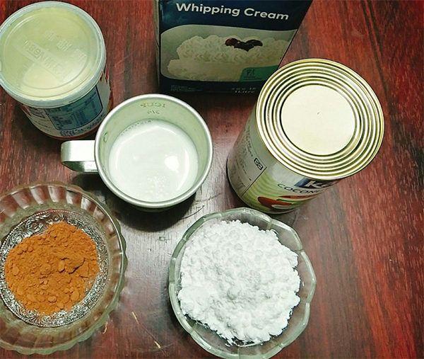Một số nguyên liệu làm kem socola cần chuẩn bị - cách làm kem sô cô la