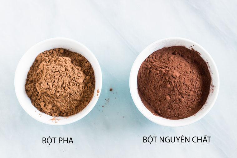 Phân biệt bột ca cao nguyên chất và bột ca cao pha