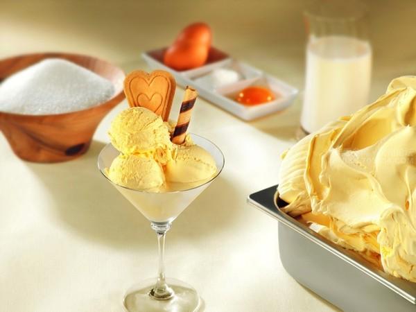 Thành phẩm món kem sầu riêng có được - cach lam kem sau rieng