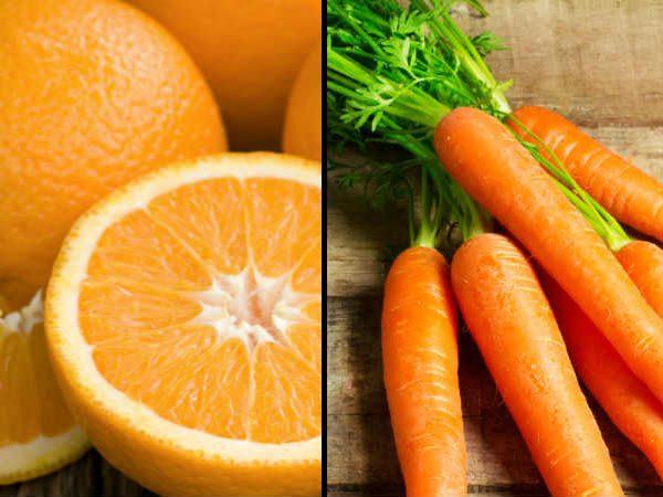 Không nên ăn chung cam với cà rốt