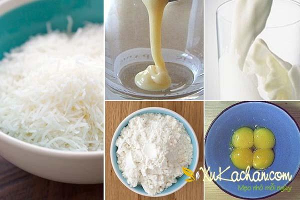 Một số nguyên liệu làm kem sữa dừa cần chuẩn bị