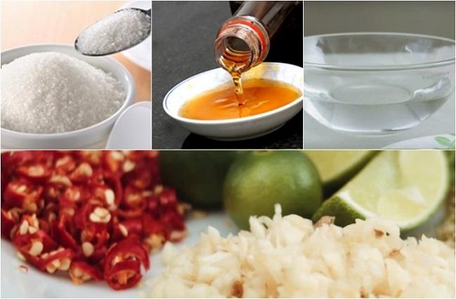 Nguyên liệu pha nước mắm tỏi ớt cần chuẩn bị
