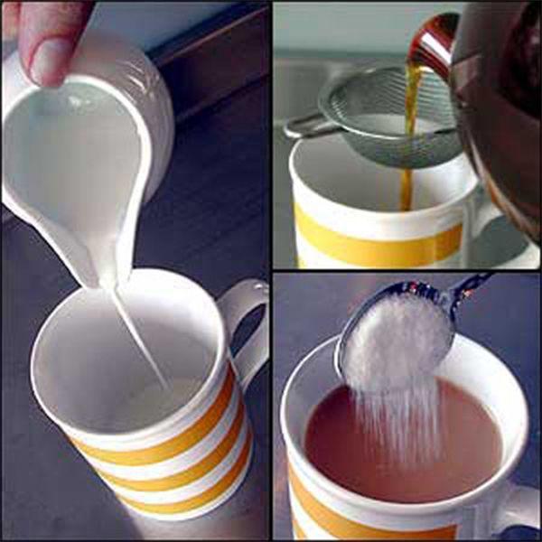 Tiến hành pha trà sữa