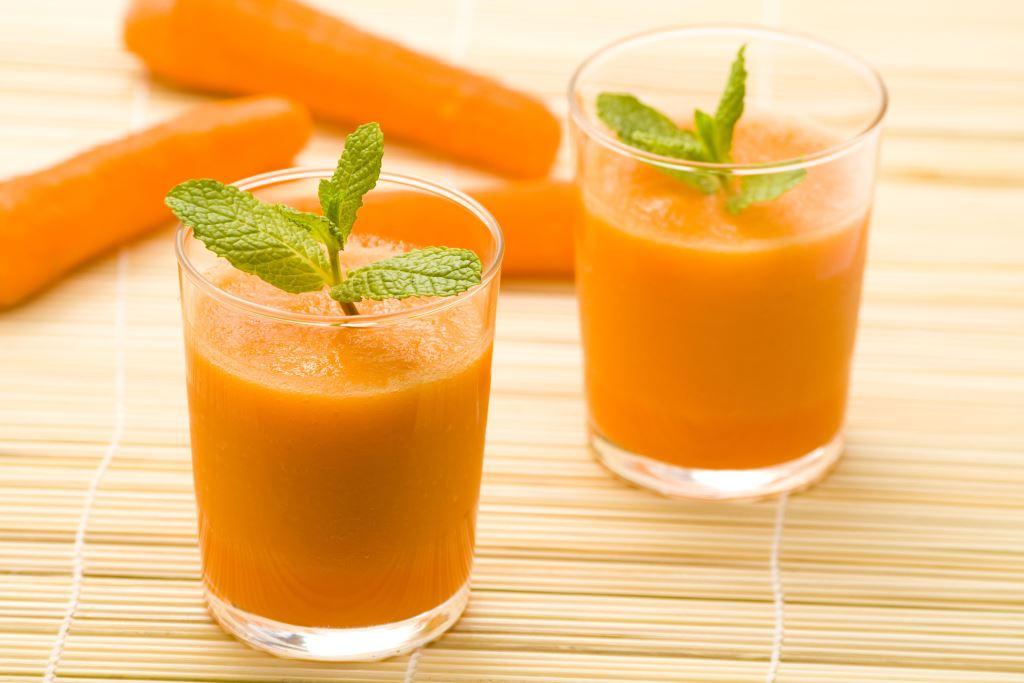 Thành phẩm món sinh tố cà rốt có được