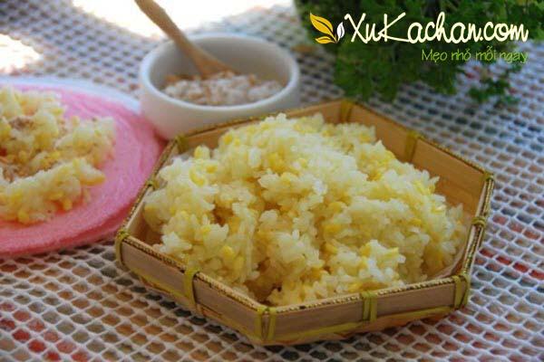 Thành phẩm món xôi đậu xanh đạt chuẩn - cách nấu xôi đậu xanh nước cốt dừa