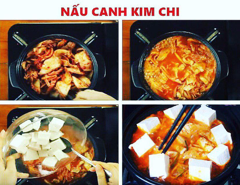 Nấu canh kim chi - cách nấu canh kim chi hàn quốc
