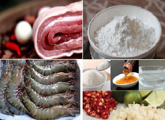 Một số nguyên liệu làm bánh bột lọc Huế cần chuẩn bị - hướng dẫn làm bánh bột lọc