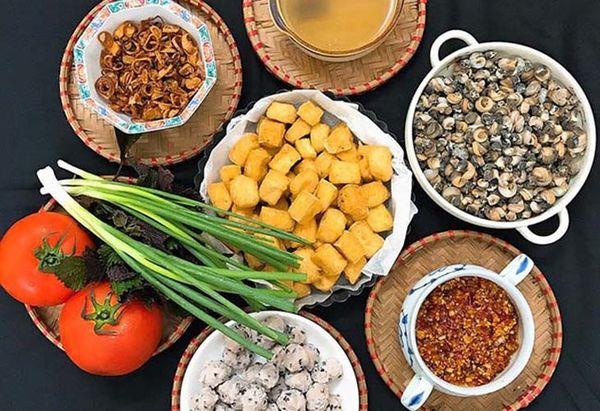 Một số nguyên liệu nấu bún ốc cần chuẩn bị - cách làm bún ốc ngon