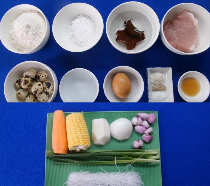 Một số nguyên liệu làm bánh gối cần chuẩn bị