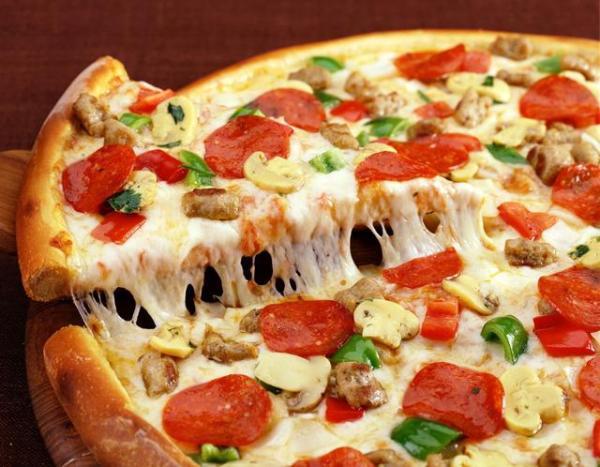 Thành phẩm món pizza có được - cách làm pizza