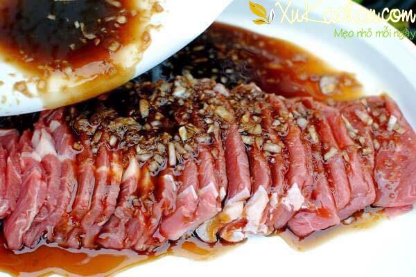 Ướp thịt bò nướng - cách ướp thịt bò