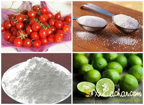 Một số nguyên liệu làm mứt cà chua bi cần có