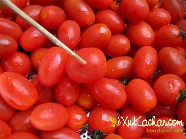 Sơ chế cà chua