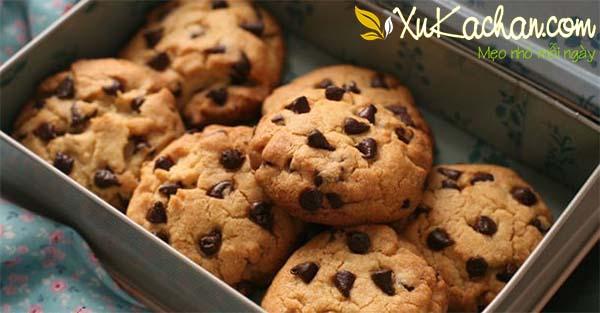 Thành phẩm món bánh quy socola thơm ngon hấp dẫn