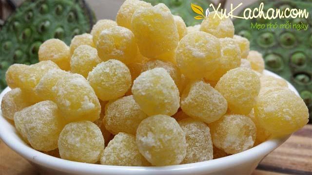 Cách làm mứt hạt sen ngon và dễ cho dịp Tết nguyên đán - cach lam mut hat sen